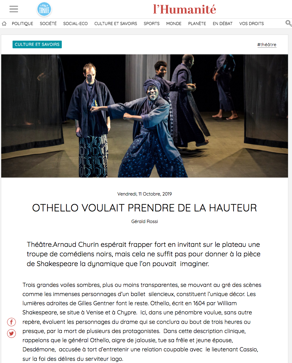 Othello Arnaud Churin Matthieu Edet Photographe spectacle Paris